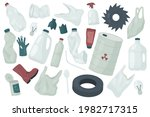 waste trash rubbish ... | Shutterstock .eps vector #1982717315