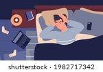 sick man suffering flu cold... | Shutterstock .eps vector #1982717342