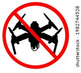 No Fly Drone Zone Sign. No...