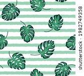 modern tropical hand drawn... | Shutterstock .eps vector #1982749358