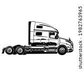 large american truck. semi...   Shutterstock .eps vector #1982763965