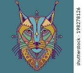 ethnic style bobcat vector... | Shutterstock .eps vector #198278126
