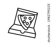 slice of pizza in box black...