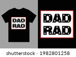 rad dad fathers day t shirt... | Shutterstock .eps vector #1982801258