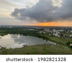 Scenic Sunset View Of Lake From ...