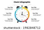 vector time infographic. clock... | Shutterstock .eps vector #1982848712