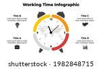 vector time infographic. clock... | Shutterstock .eps vector #1982848715