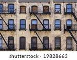 three floors of windows with... | Shutterstock . vector #19828663