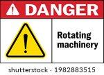 rotating machinery danger sign. ... | Shutterstock .eps vector #1982883515