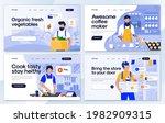 set of landing page design... | Shutterstock .eps vector #1982909315
