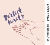 nails art logo.woman hands with ...   Shutterstock .eps vector #1982913305