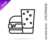 black line burger icon isolated ... | Shutterstock .eps vector #1982980838