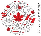 Canada Traditional Doodle Style ...