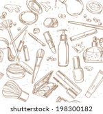 seamless pattern from doodles... | Shutterstock .eps vector #198300182