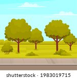 street with plants and asphalt... | Shutterstock .eps vector #1983019715