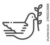 peace dove square line vector... | Shutterstock .eps vector #1983023888