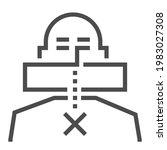 freedom of speech  square line... | Shutterstock .eps vector #1983027308