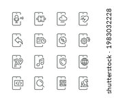mobile apps related icons  thin ... | Shutterstock .eps vector #1983032228
