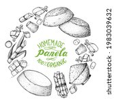 panela sugar sketch. hand drawn ... | Shutterstock .eps vector #1983039632