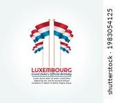 vector graphic of luxembourg...   Shutterstock .eps vector #1983054125