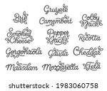 set of cheese grades lettering. ...   Shutterstock .eps vector #1983060758