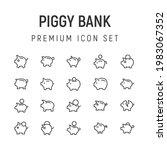 premium pack of piggy bank line ...