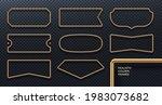 set of realistic golden metal... | Shutterstock .eps vector #1983073682