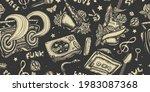 retro music seamless pattern.... | Shutterstock .eps vector #1983087368