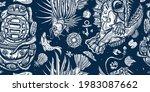 deep water diving. scuba diver... | Shutterstock .eps vector #1983087662
