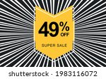 49  off. black banner with... | Shutterstock .eps vector #1983116072
