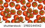 tomato sketch background.... | Shutterstock .eps vector #1983144542