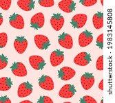 seamless pattern strawberry ...   Shutterstock .eps vector #1983145808