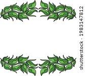 nature decorative frame. vector ...   Shutterstock .eps vector #1983147812