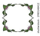 nature decorative frame. vector ...   Shutterstock .eps vector #1983148412
