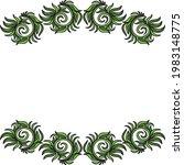nature decorative frame. vector ...   Shutterstock .eps vector #1983148775