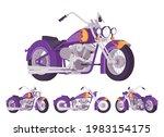 chopper custom fire decor... | Shutterstock .eps vector #1983154175