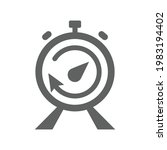 deadline  stopwatch icon. gray...   Shutterstock .eps vector #1983194402