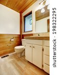 White And Brown Cozy Bathroom...