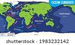 ocean currents on world map... | Shutterstock .eps vector #1983232142