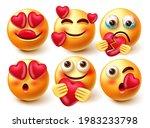 emoticon in love emoji vector...   Shutterstock .eps vector #1983233798