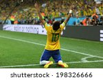 Постер, плакат: Neymar r of Brazil