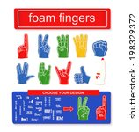 Foam Finger Set. Collection Of...