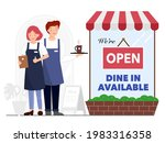 we are open sign for reopening... | Shutterstock .eps vector #1983316358