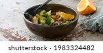 Salad Bowl With Broccoli And...