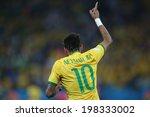 Постер, плакат: Neymar of Brazil celebrates