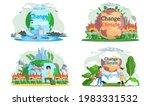 climate change. flat global... | Shutterstock .eps vector #1983331532