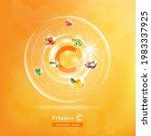 vitamin c. medicine capsule ... | Shutterstock .eps vector #1983337925