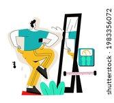 man standing in front of... | Shutterstock .eps vector #1983356072