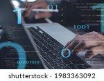 digital software technology...   Shutterstock . vector #1983363092
