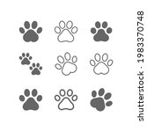 dog  cat paw line icon... | Shutterstock .eps vector #1983370748